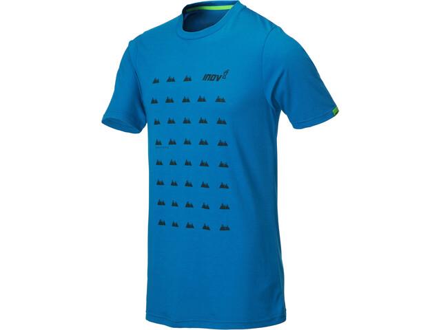inov-8 Tri Blend Inov-8 Lyhythihainen T-paita Miehet, blue grid